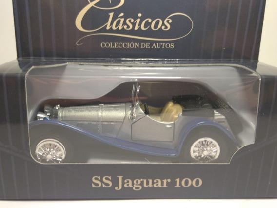 Jaguar 100 Ss 1936 Escala 1:36 Marca Welly Rosario