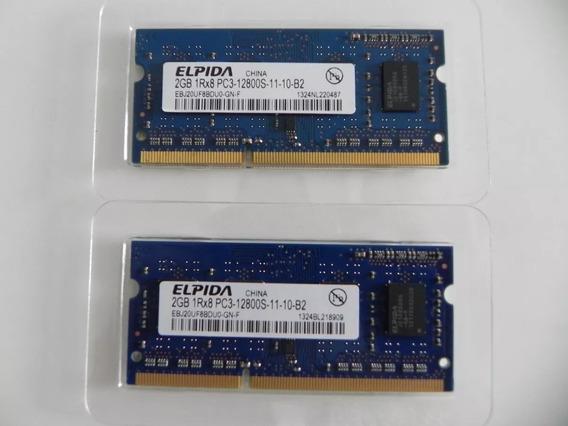 Kit 4gb 2x Memória Elpida 2gb 1rx8 Pc3-12800s-11-10-b2 P/mac