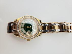 Rolex Relogio Feminino Com Strass Como Novo