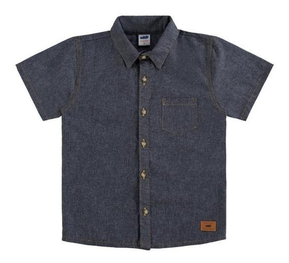 Camisa Social Infantil Masculina Jeans Marlan