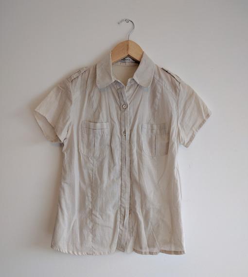 Camisa Portsaid Crudo   Mangas Cortas   Talle S