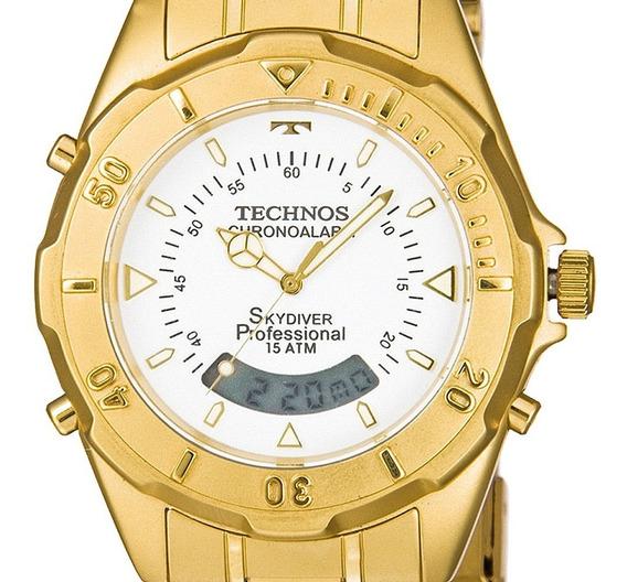 Relógio Technos Masculino Dourado Garantia Original