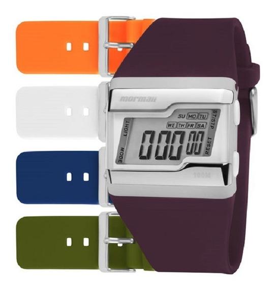 Kit Relógio Mormaii Unissex Digital Fz Troca Pulseiras