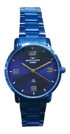 Relógio Feminino Backer Analógico 10269113f-az - Azul