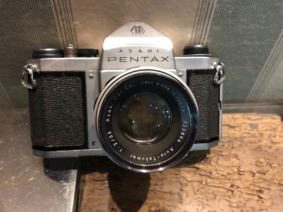 Câmera 35mm Pentax Spotmatic S2 Com Lente Toda Revisada