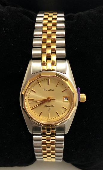 Relógio Bulova Feminino Misto Wb28760x Marine Star Novo