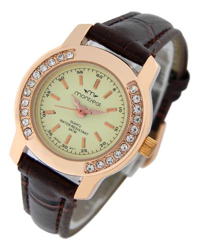 Reloj Montreal Mujer Ml420 Strass Envío Gratis T. Oficial