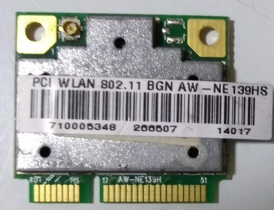 Placa Wifi Pci Wlan 802.11 Bgn- All One Solo A45 Cce