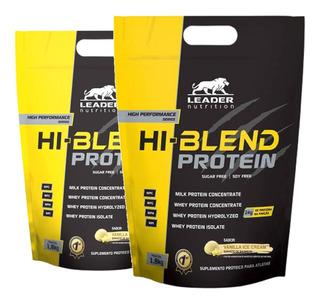 Kit 2x Hi Blend Protein 1,8kg Whey Blend - Leader Nutrition