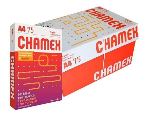 Papel Sulfite A4 210x297 75g 500fls Chamex Caixa 10 Resmas