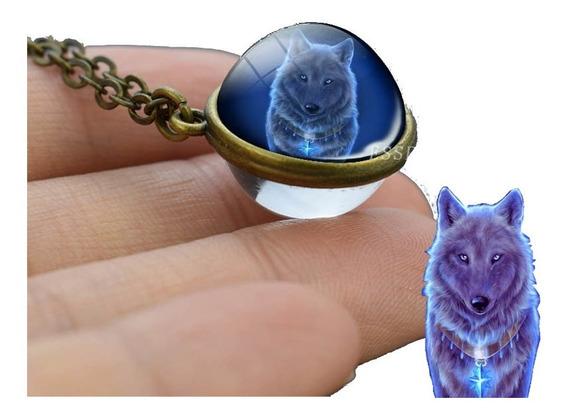 Colar Pingente Esfera Lobo Fantasma Wolf Ball + 2 Brindes