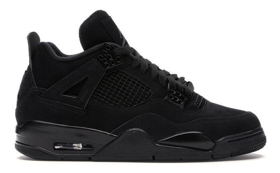 Tenis Nike Air Jordan 4 Black Cat Todo Preto Lebron Kobe