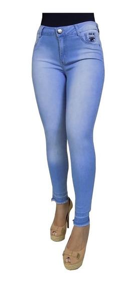 Calça Jeans Feminina Lycra Modela O Corpo Barra Desfiada 19
