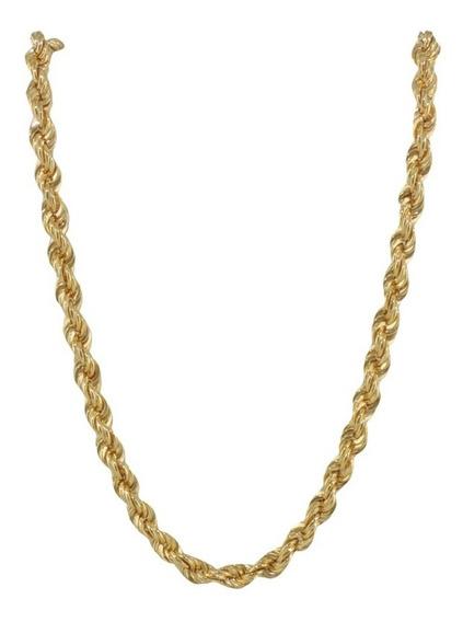 Colar Corrente Corda 50 Cm Ouro 18k Cordão Baiano Promoção