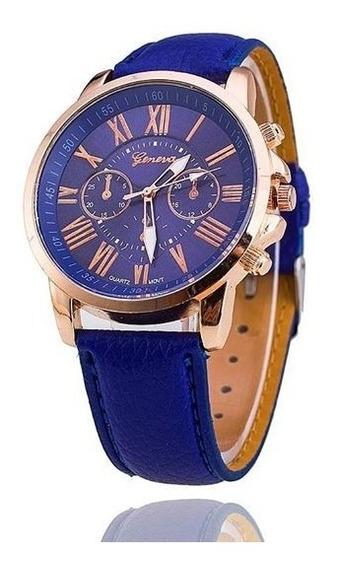 Relógio Feminino Geneva Azul - Promoção