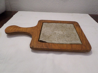 Porta Caliente Madera Ceramica 32.5x20x2.5 Cm Y 15x15 # 1
