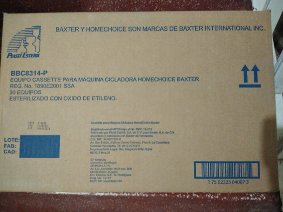 Casseette Para Maquina Cicladora Baxter Por Caja Cad 2024