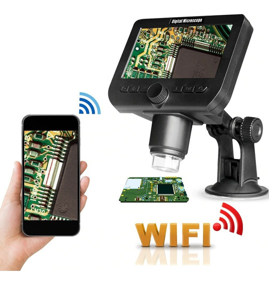 Microscópio Wifi Digital 4.3 Display Lcd Sem Fio Wifi