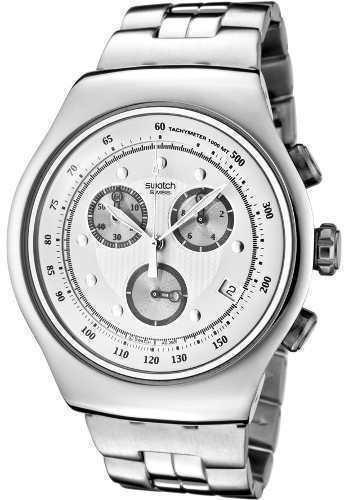 Reloj Swatch Yos401g Hombre Plateado Acero SpzqUMV