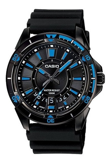 Relogio Casio Mtd 1066b-1 Aço Preto-borracha Data Original