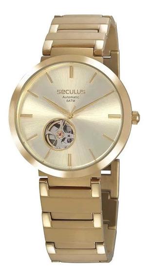Relógio Seculus Masculino Automático 20784gpsvda1 Dourado