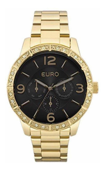 Relogio Euro Feminino Dourado Eu6p29agx
