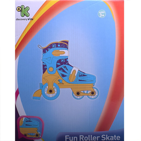 Rollers Patines 2 Ruedas Traseras Discovery Kids Talle 31-34