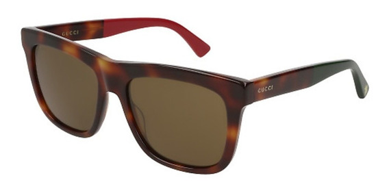 Óculos Gucci Gg 0158s 005 Tortoise Green Red