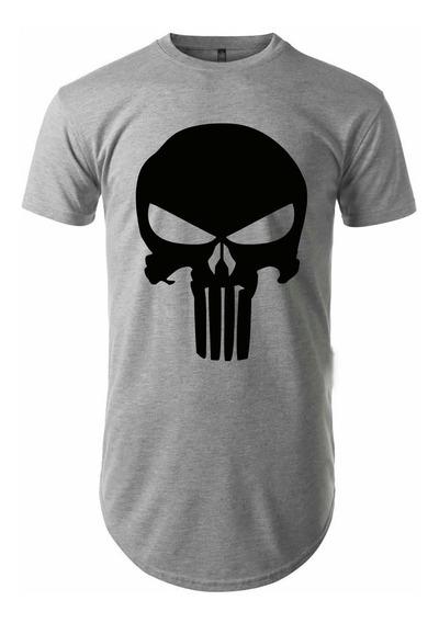 Camiseta Longline Oversized Punisher Vcstilo
