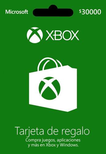Tarjeta Regalo Xbox $30.000 Región Colombia Entrega Inmediat