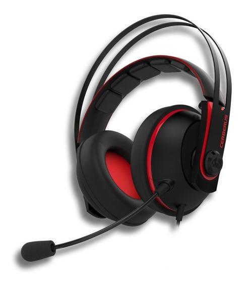 Fone De Ouvido Headset Asus Cerberus V2 Black/red Estéreo P2