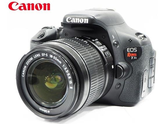 Câmera Canon Eos T3i 18mp Full Hd Kit C/ Lente Zoom 18-55mm