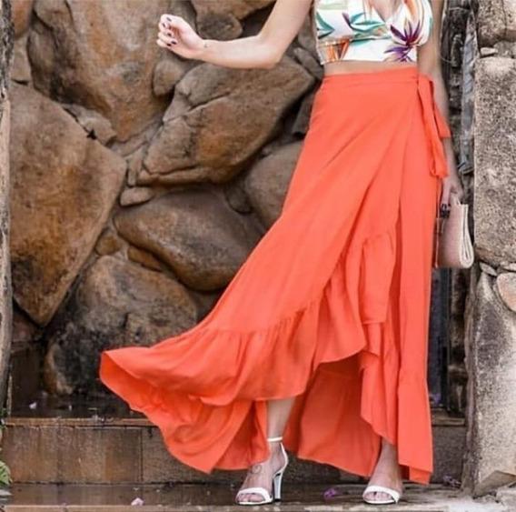 Saia Moda Feminina Tecido Viscose Lançamento Exclusivo Verão