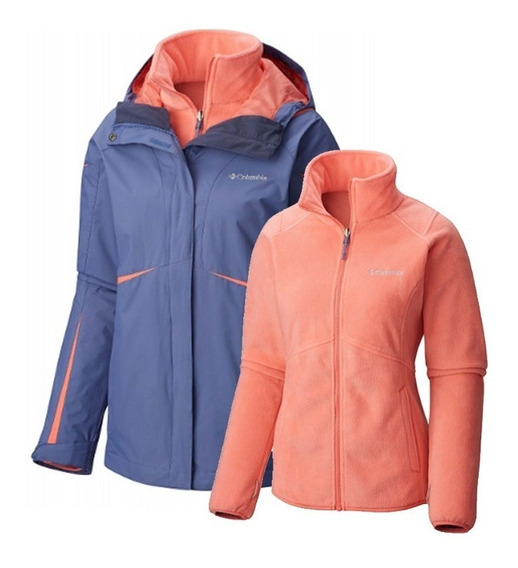 Campera Columbia Mujer Impermeable Desmontable Blazing Star