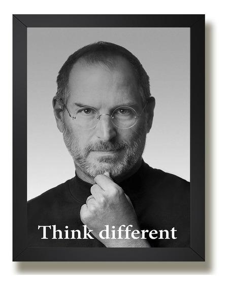 Quadro Steve Jobs Tecnologia Apple Ki4 Presente Decorativo
