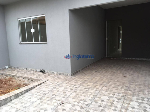 Casa À Venda, 86 M² Por R$ 316.000,00 - Jardim Casa Grande - Cambé/pr - Ca0986