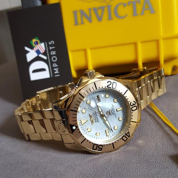 Relógio Masculino Invicta Grand Diver Gold