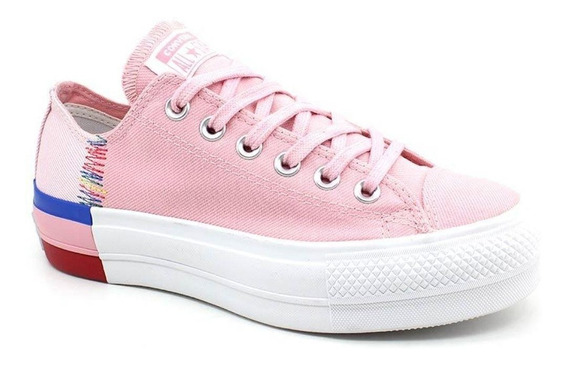 Tênis All Star Converse Lift Plataforma Feminino - Rosa