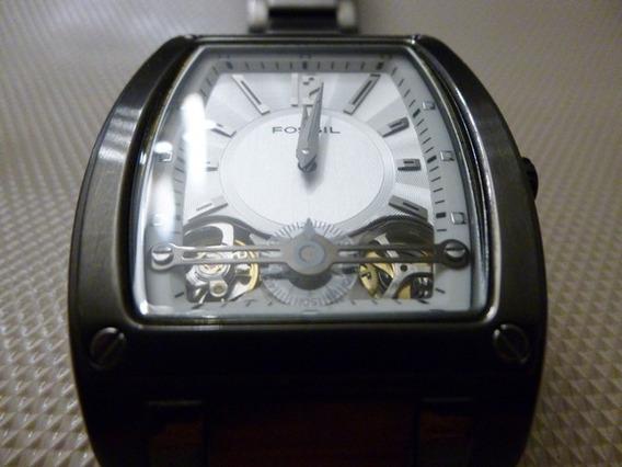 Relógio Fossil Original Semi Novo Caixa E Pulseira Em Aço Inox Frete Grátis Em 12 X