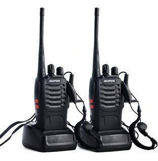 Kit 2 Radio Comunicador Walk Baofeng 888s Alcance 12km 16 Ch