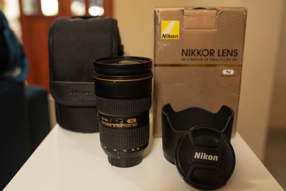 Lente Nikon Af-s 24-70mm F/2.8g Ed Leia O Anúncio Até O Fim.