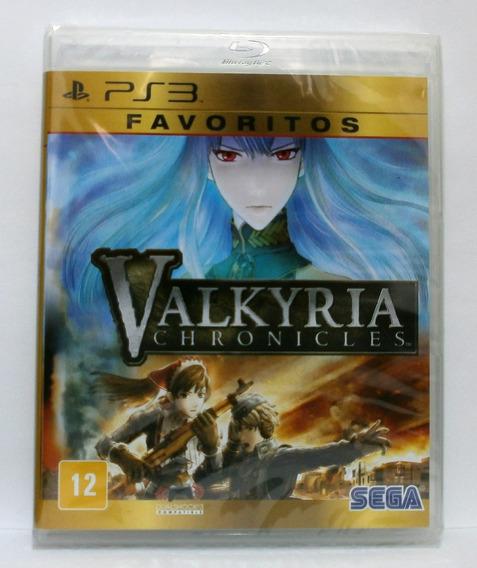Valkyria Chronicles Jogo Ps3 Novo Lacrado Mídia Física