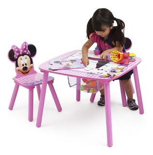 Juego De Sillas Y Mesas De Almacenamiento Minnie Mouse