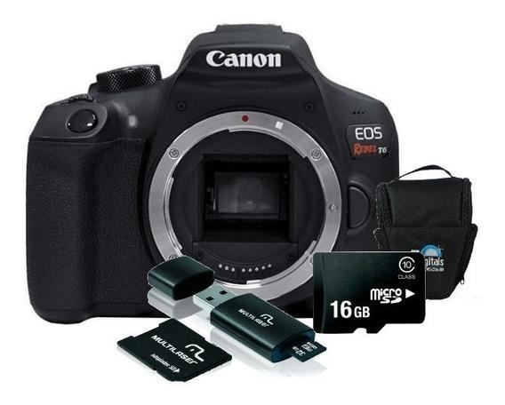Câmera Canon T6 (corpo) Kit 16gb + Bolsa