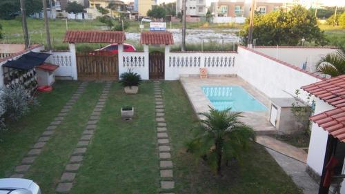 Linda Casa Com 4 Dormitórios À Venda, 200 M² Por R$ 750.000 - Recreio - Rio Das Ostras/rj - Ca0913