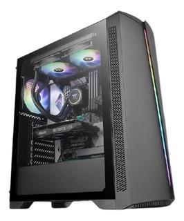 Gabinete Thermaltake Tt H350 Tg Rgb Templado Gamer Pc