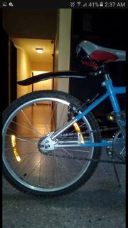Bicicleta Modelo Bmx Color Celeste Con Gris Para Niños