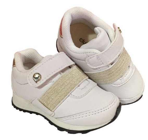Tênis Branco Infantil Branco Club Happy Feminino 001