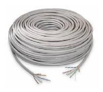 Cable De Red Utp 5e Precio Por Metro Internet Camaras Gris