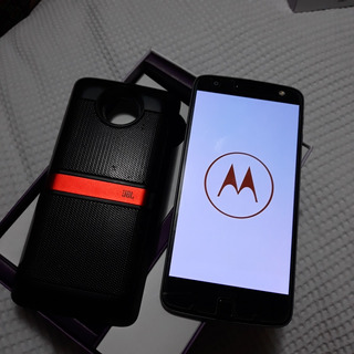 Celular Moto Z Power E Sound Novissimo Com Caixa Jbl